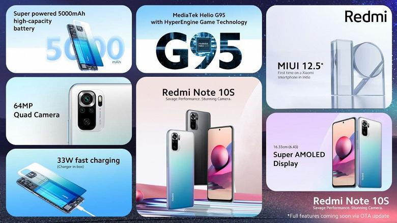 Redmi Note 10S в Индии оказался намного дешевле