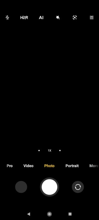 Проблема черного экрана в камере смартфона Poco X2