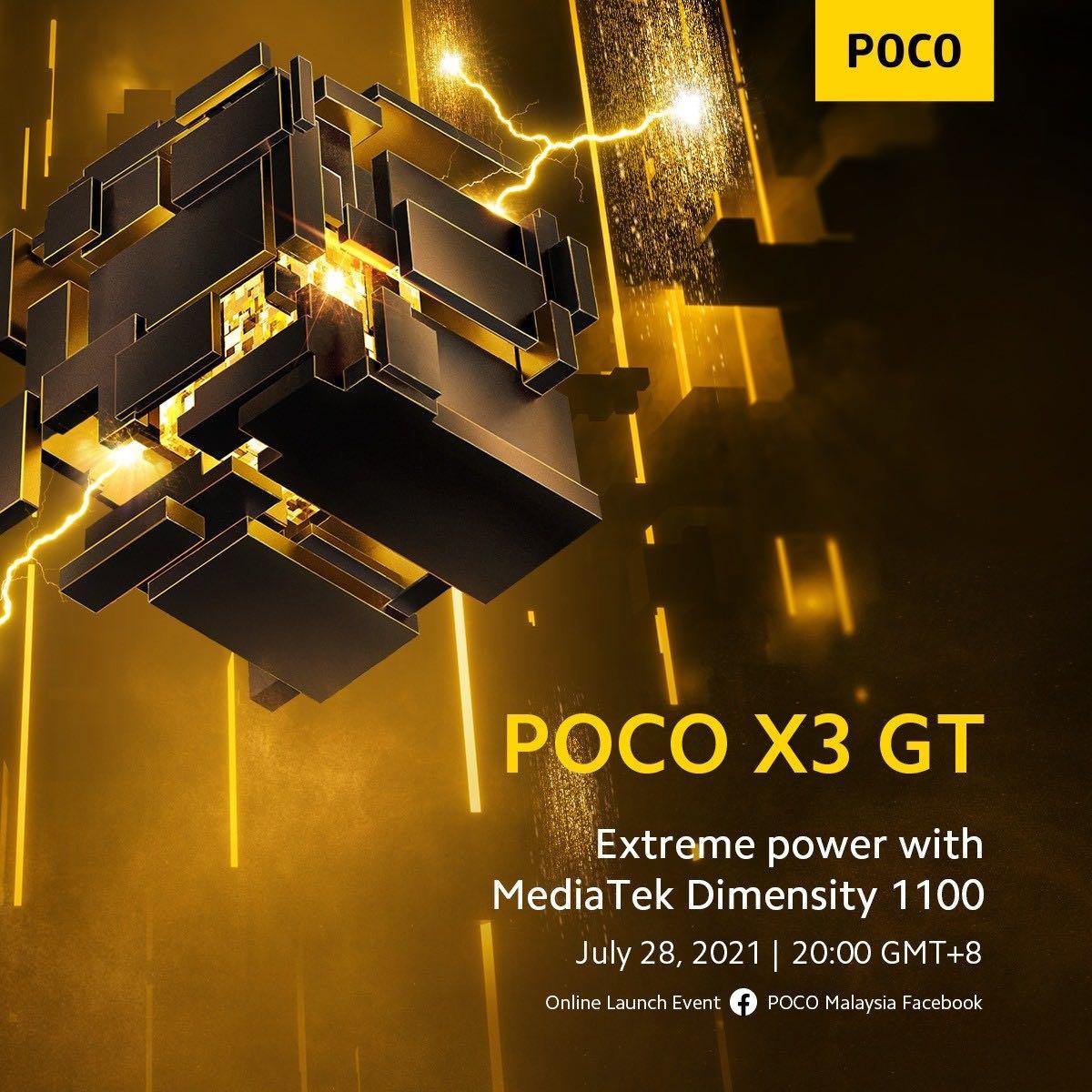 Смартфон Poco X3 GT на первых пресс-фото — ничего нового