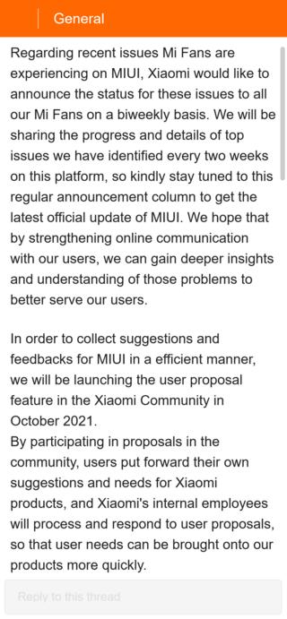 Xiaomi серьёзно взялась за проблемы с оболочкой MIUI